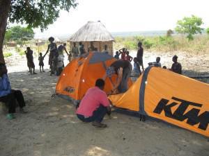 Bessie putting tent up (Copy)
