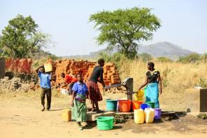 Most people get their water from boreholes.