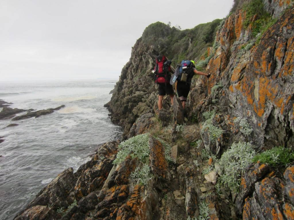 Shortly after the Bloukrans River crossing you have to do some serious rock climbing.