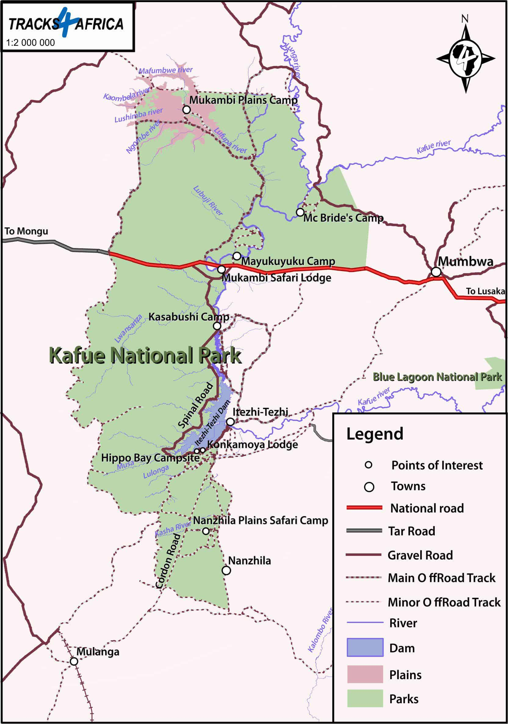 Kafue map