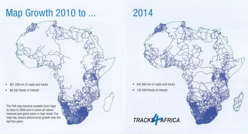 Map growth 2010 - 2014