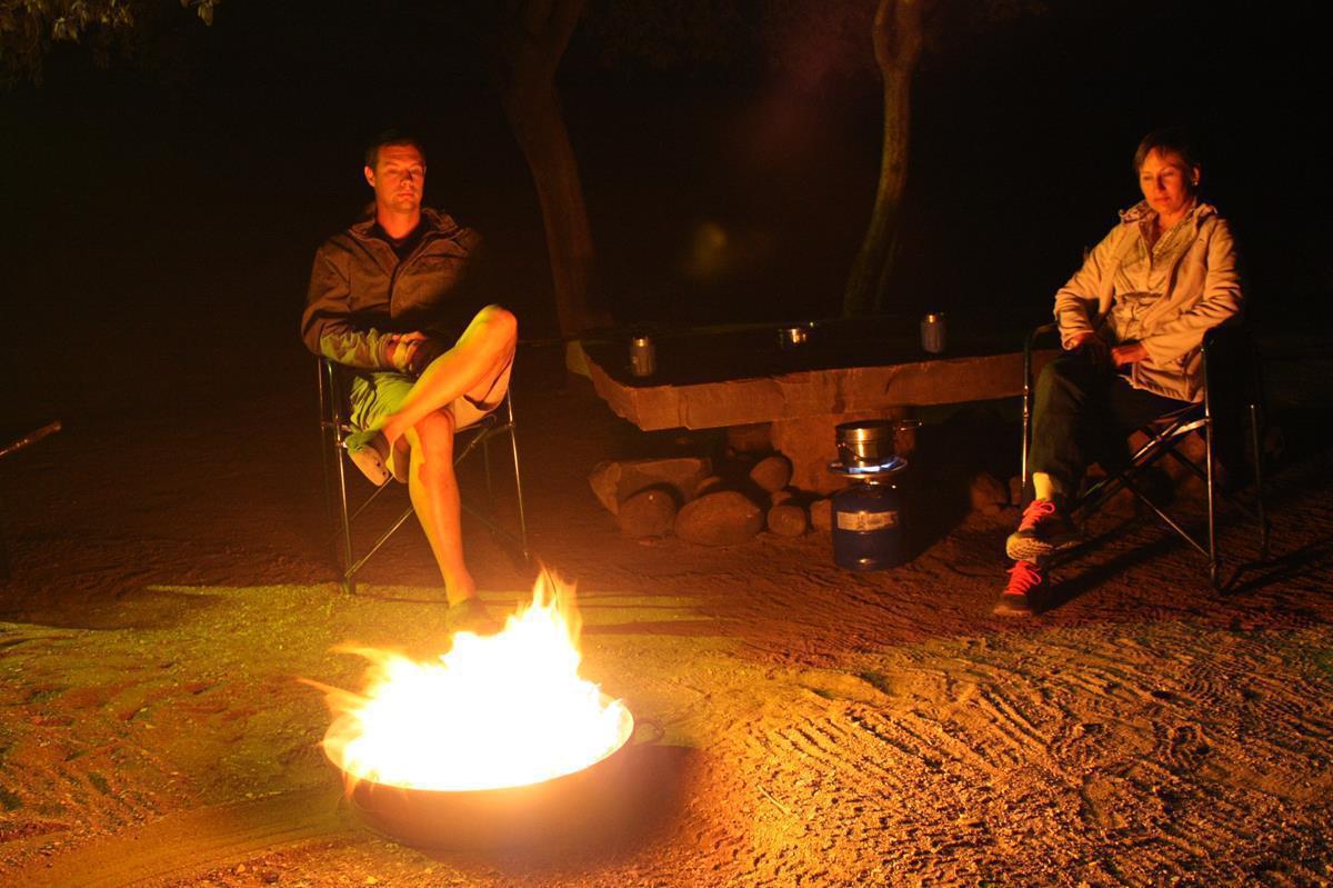 A campfire is like a Bushmen TV.