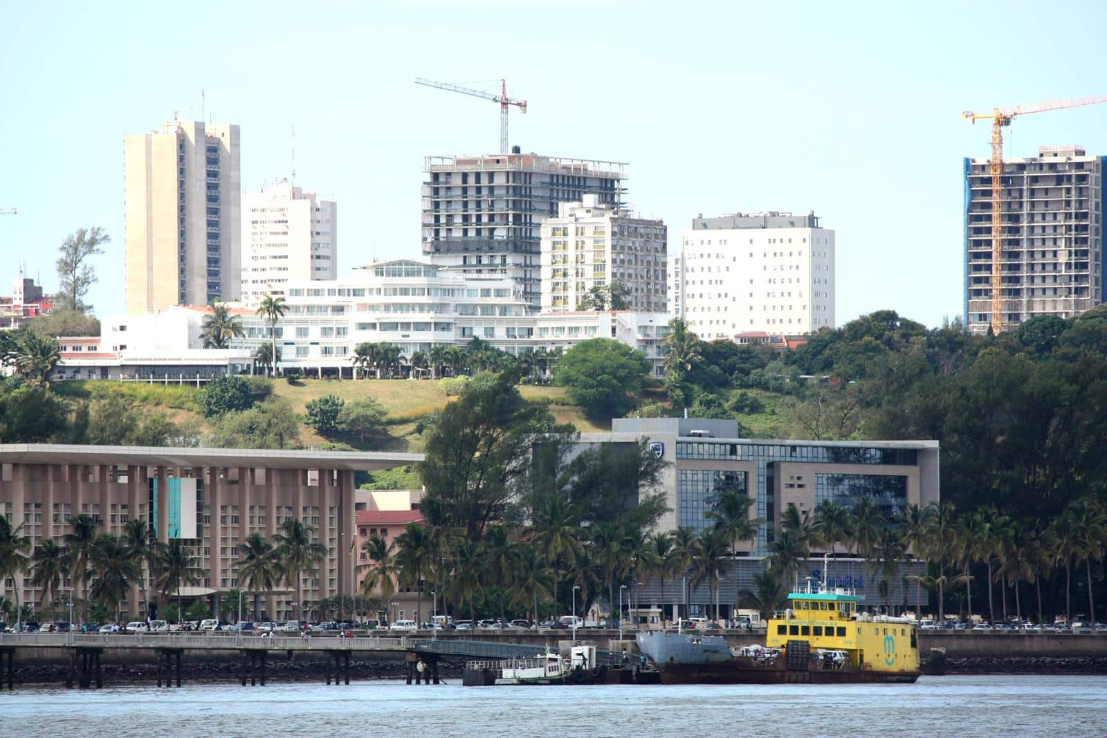 The Maputo skyline shows clear signs of development.
