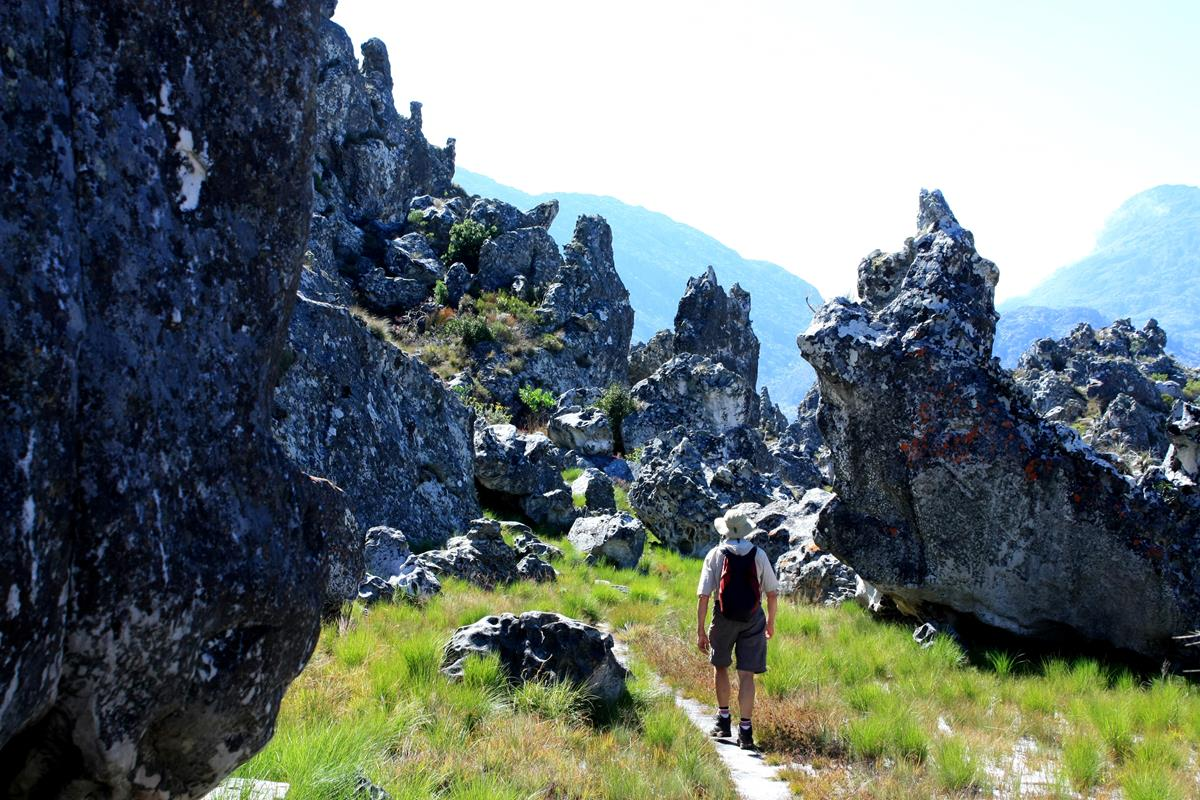 The Chimanimani Mountains boast beautiful rock formations.