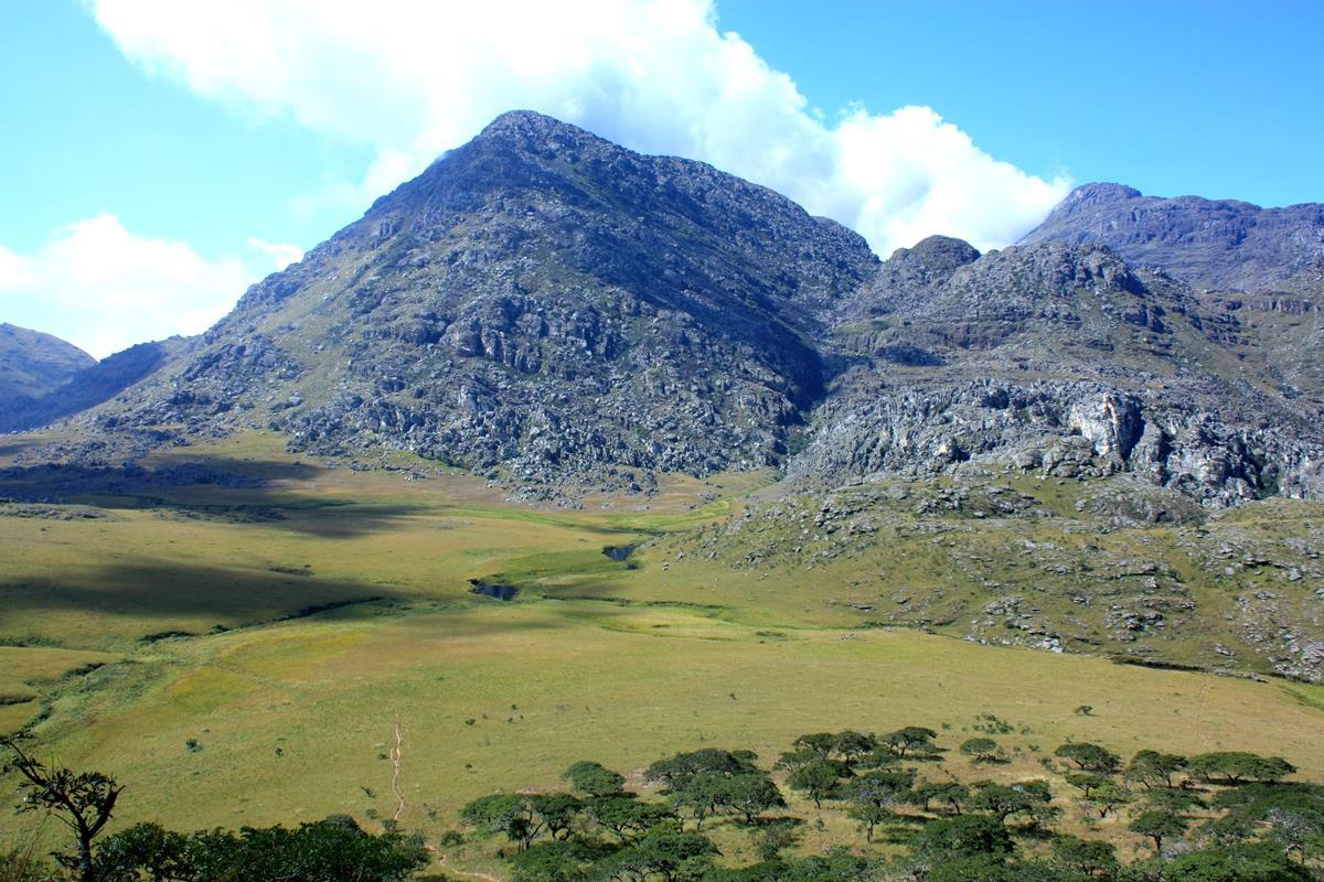 Mount Binga seen from the mountain hut.