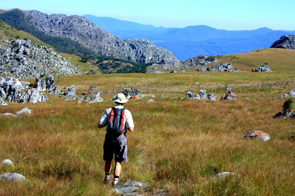 Hiking in the Chimanimani National Park.