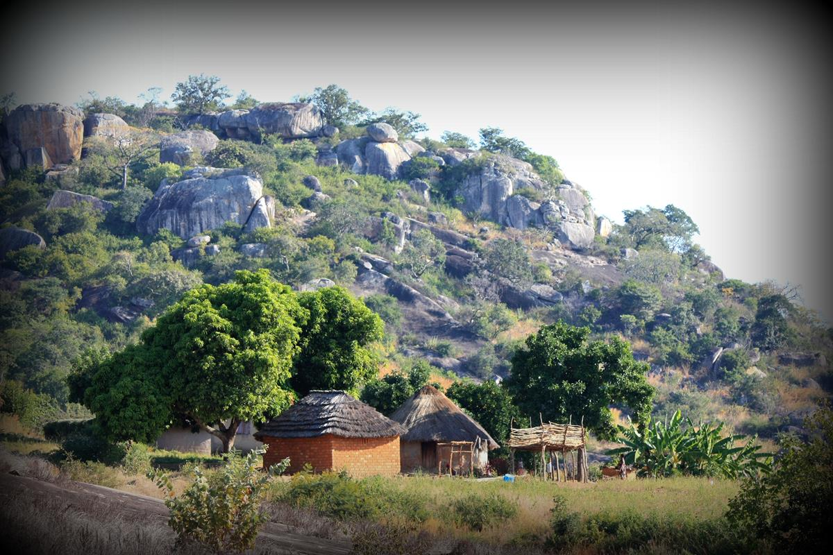 Beautiful huts amongst the granite koppies.