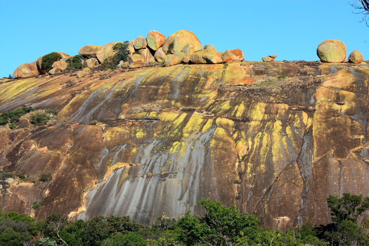 Some of the colourful boulders of the Matobo Hills.