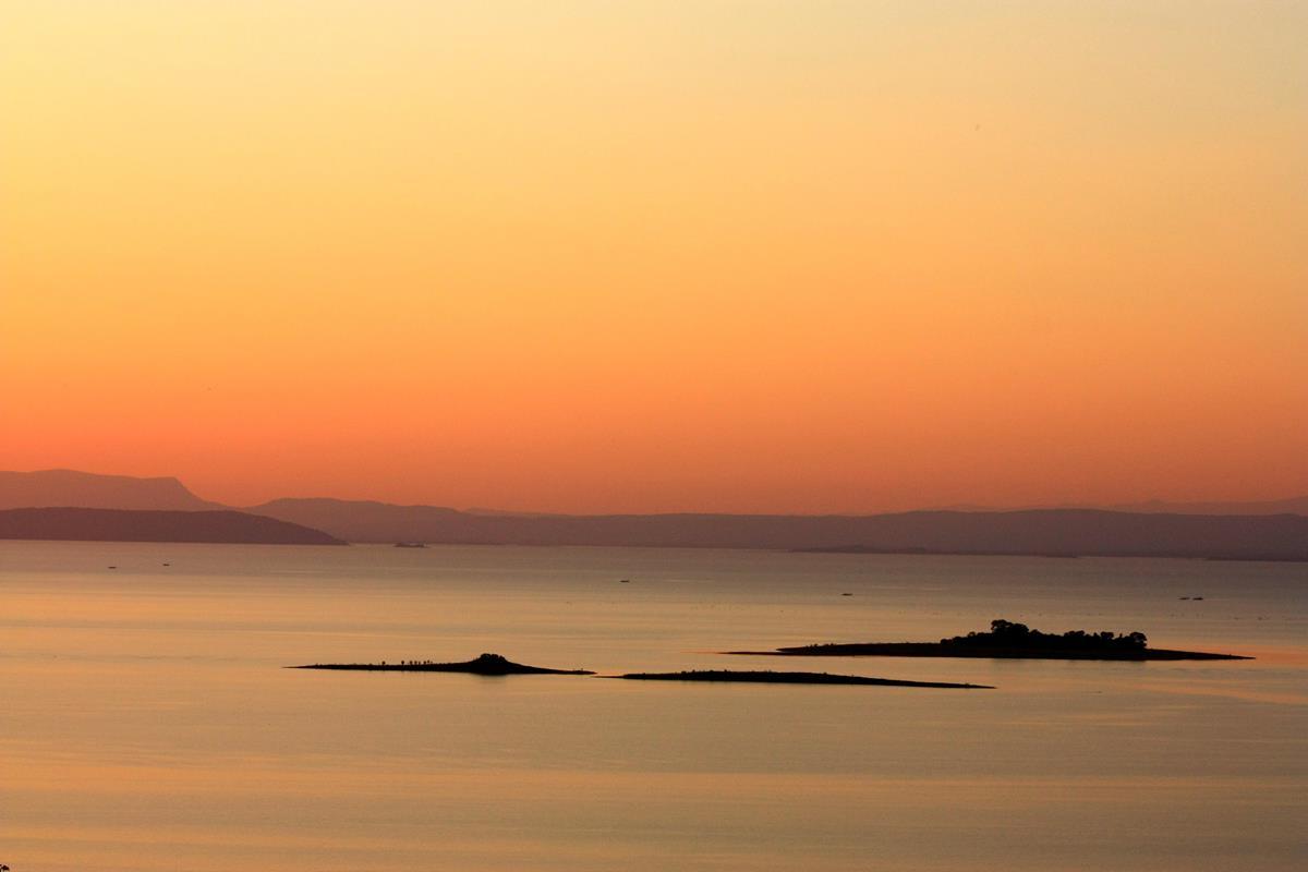 Sunset over Lake Kariba.