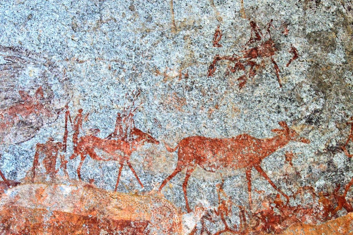 The rock paintings of Matobo are very well preserved.