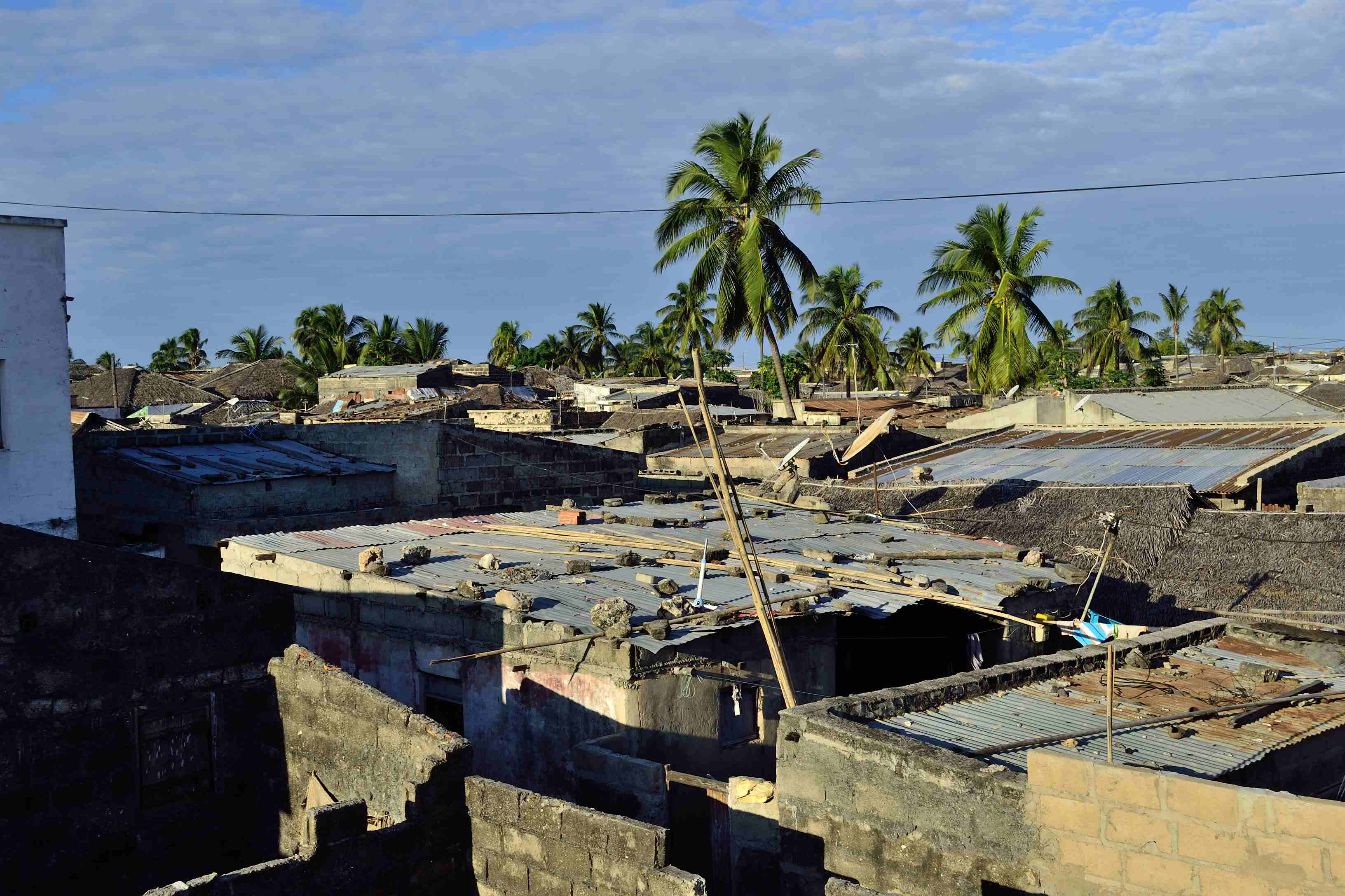 The island is overpopulated with people living in squalid shacks.