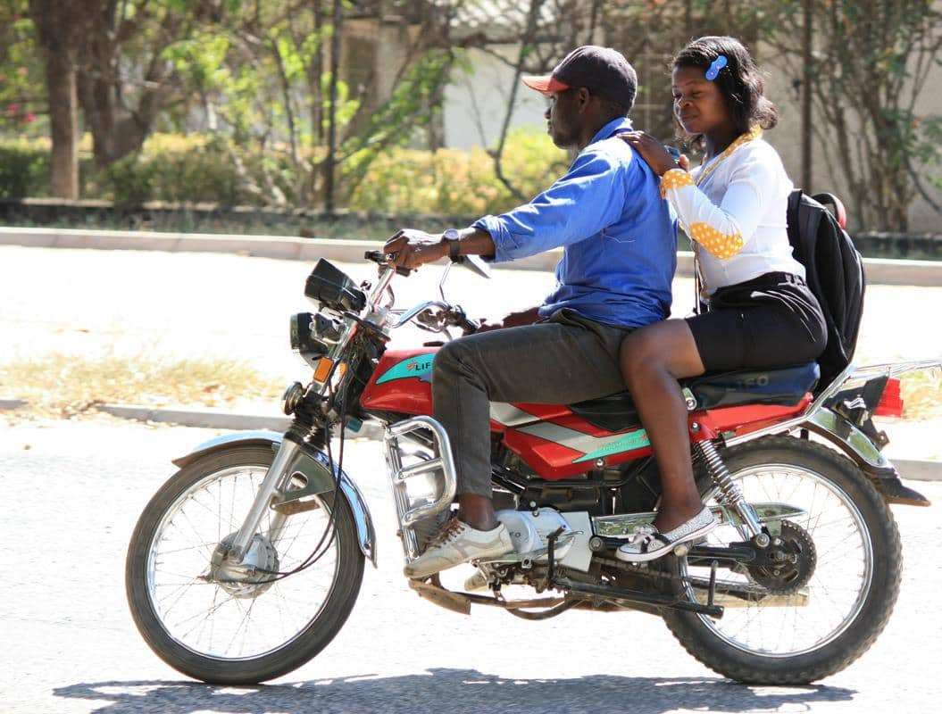 A motorbike taxi.