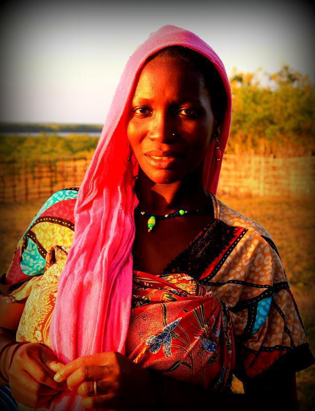 A beautiful Swahili women at Quionga near the northern border of Mozambique.