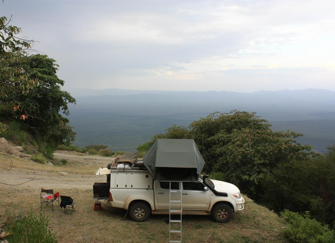 Our camping spot for the night had a beautiful view over the Rift Valley.