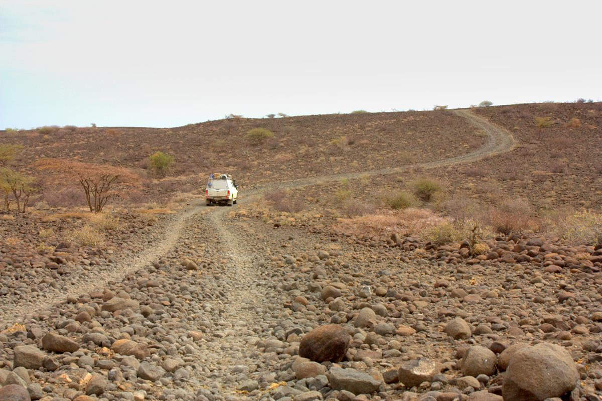 Rocky roads around Lake Turkana.