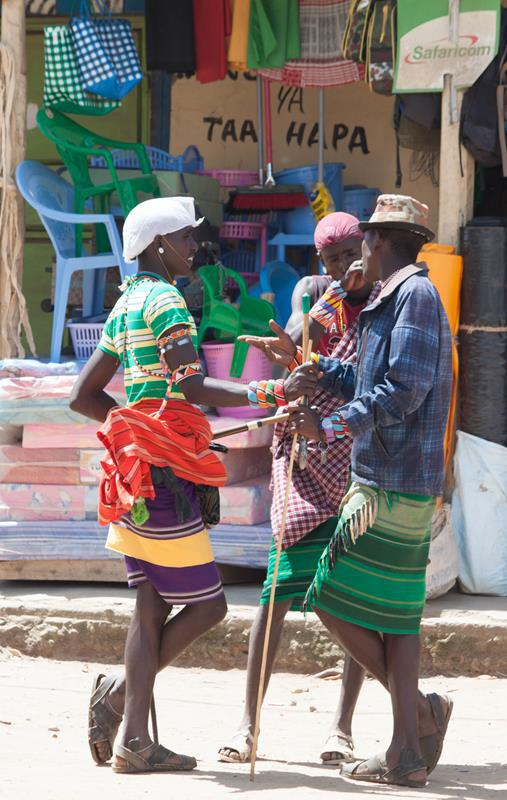 Samburu men.. the people adds colour to the otherwise dusty town of Maralal.