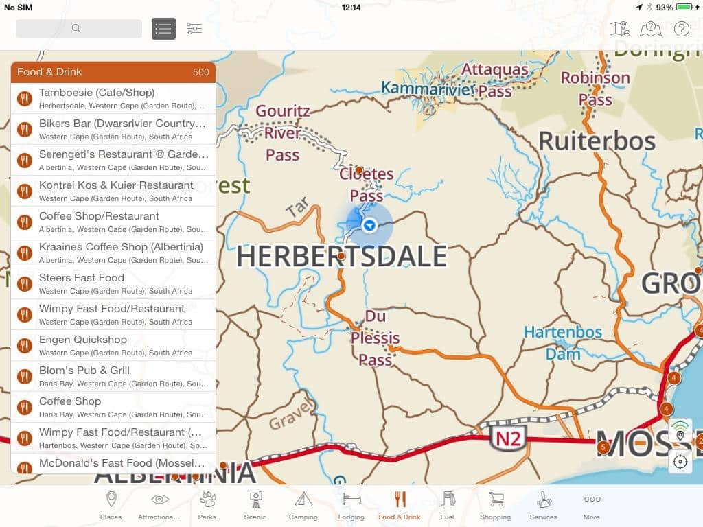 Knowing Where To Turn Is Easy With Your Gps Position Shown On The Map