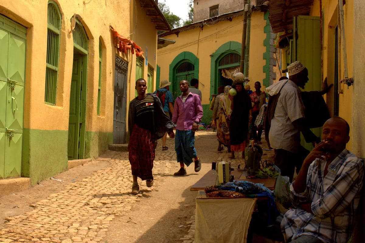 Harar has many narrow alleys.