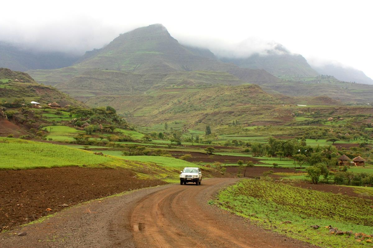 The Ethiopian highlands are majestic.