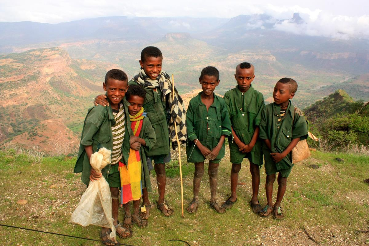 These curious Tigray boys (note their traditional wear) spent hours at our bush camp.