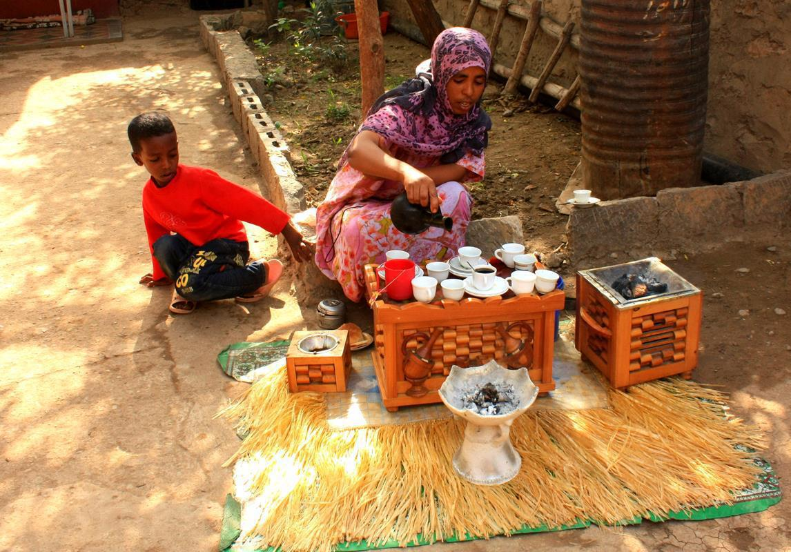 In Ethiopia you don't drink coffee, you enjoy a coffee ceremony.