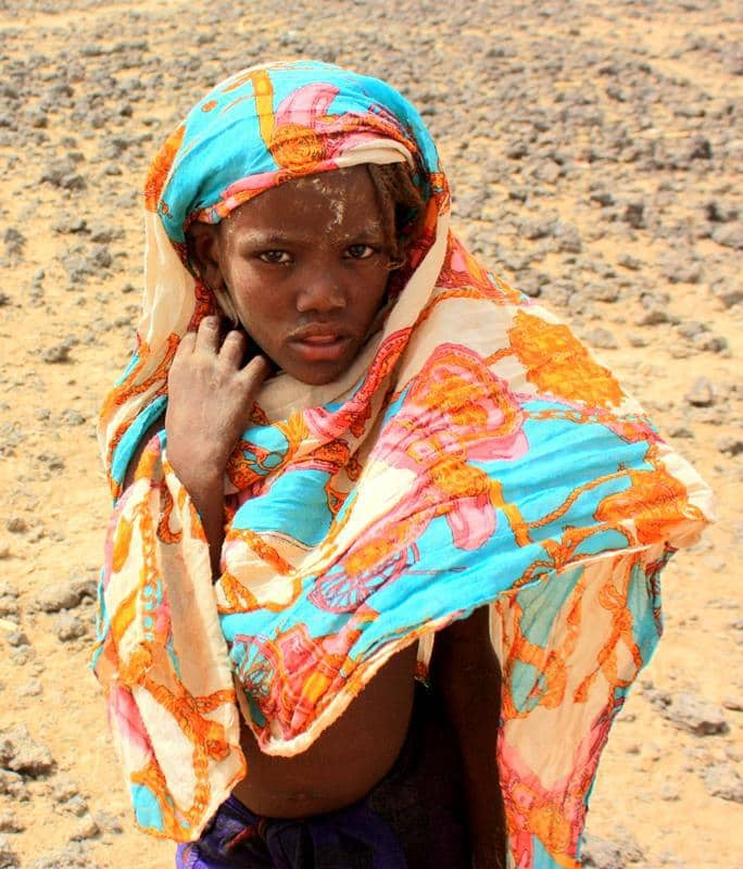 A little girl from the Araboro village.