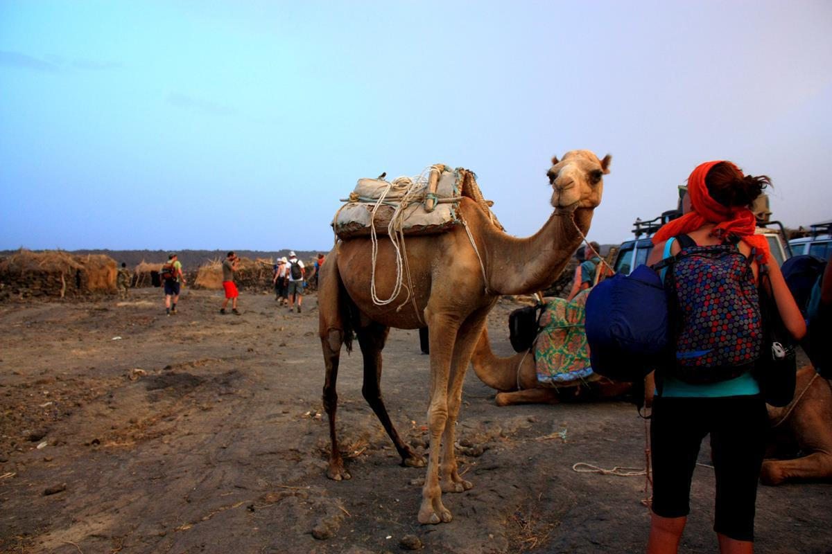 As soon as the camels arrived, we were ready to leave.