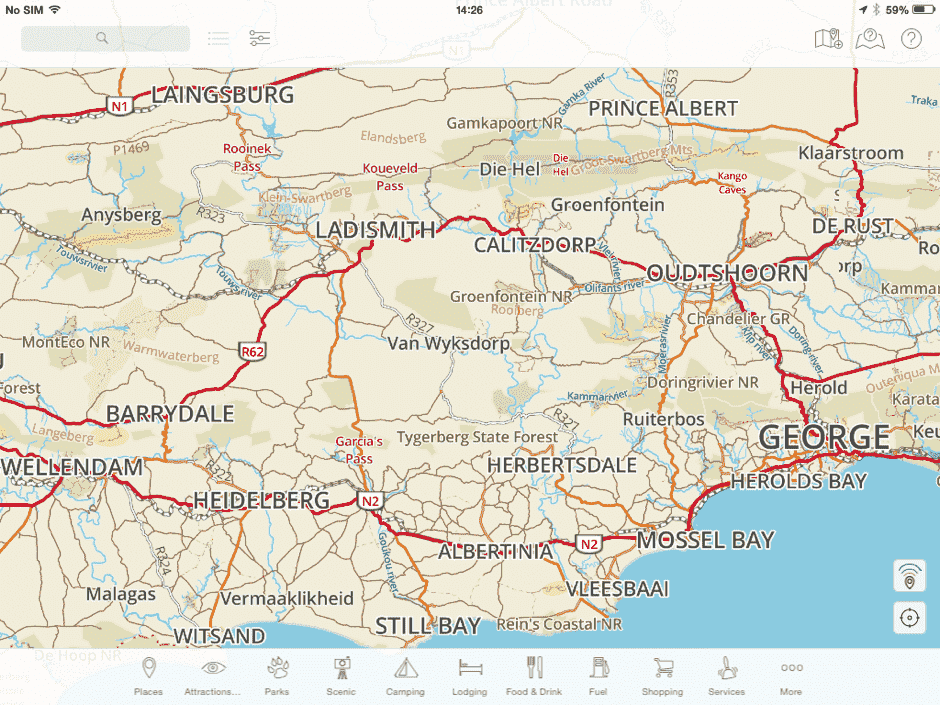 An overview of the trip as seen on the iPad Mini