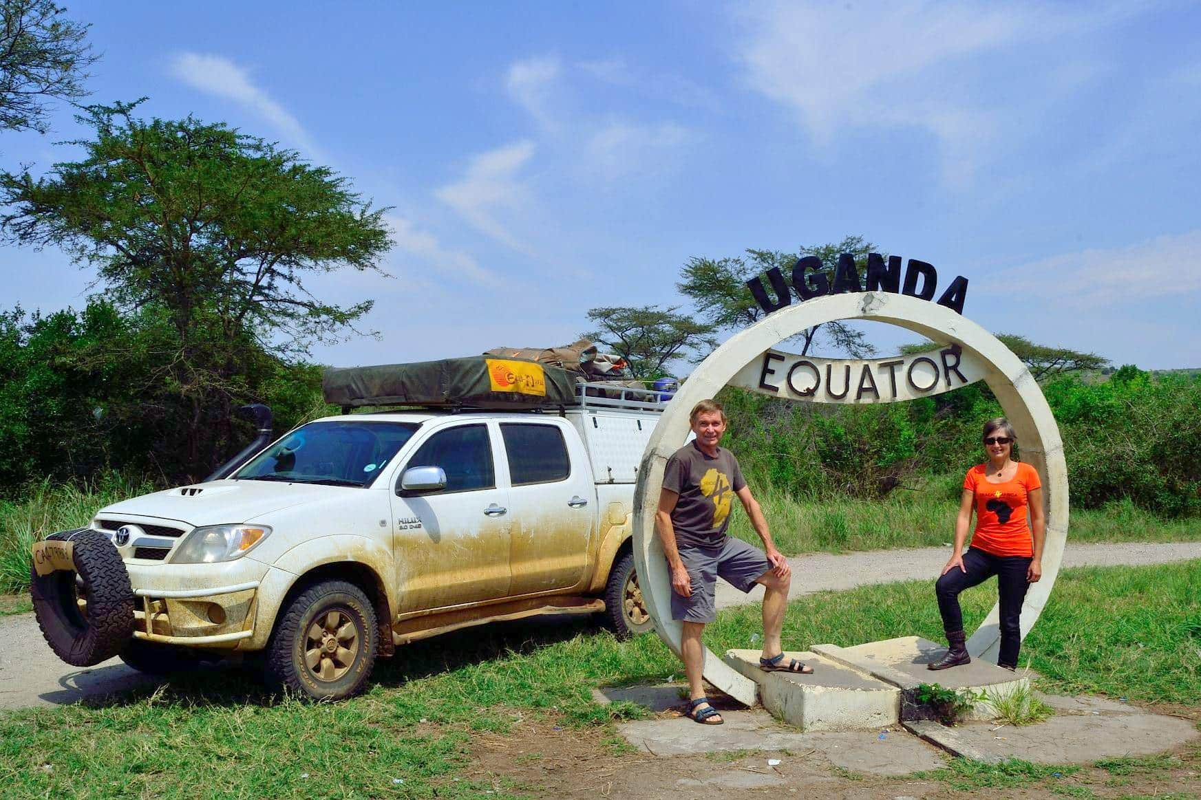 On the equator in Uganda!