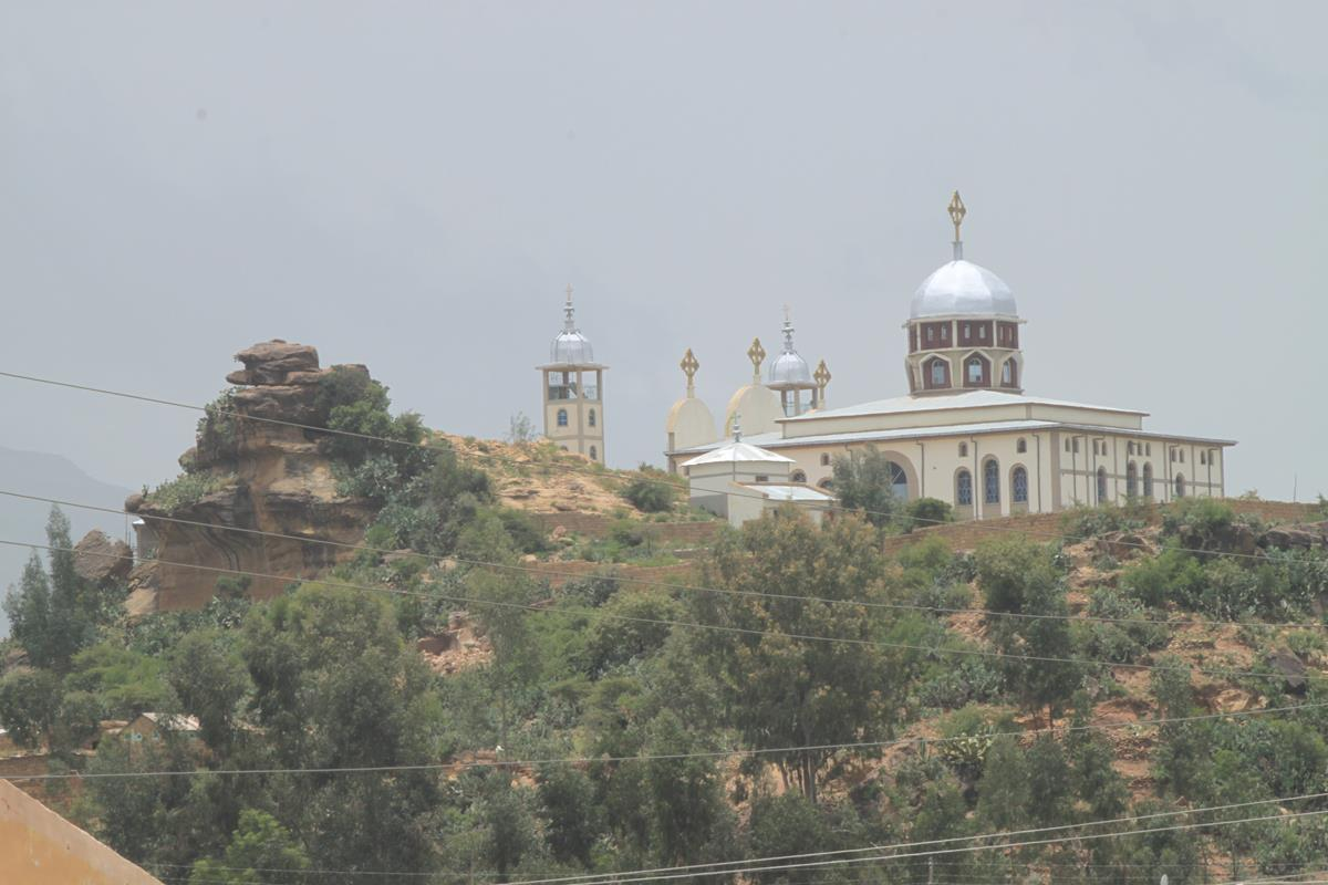 The impressive church as you enter Adigrat.