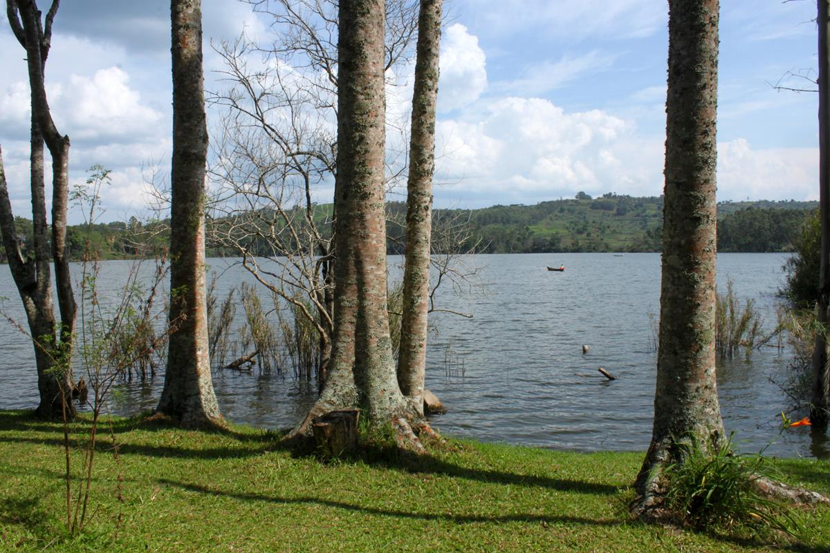 Lake Nyabikere, one of the crater lakes in the Ndali-Kasenda crater field.