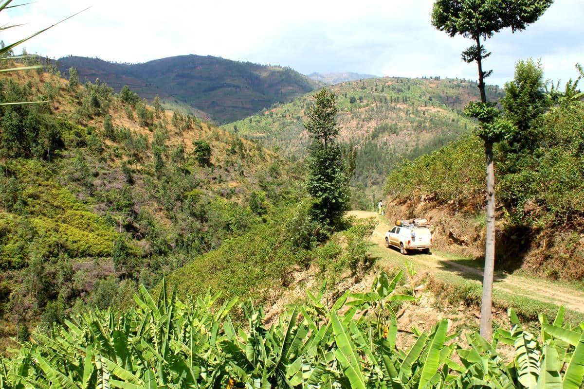 The western side of Rwanda is very hilly.