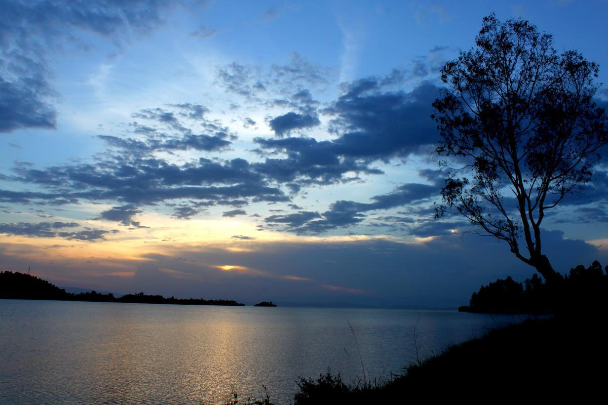 A peaceful evening on Lake Kivu.
