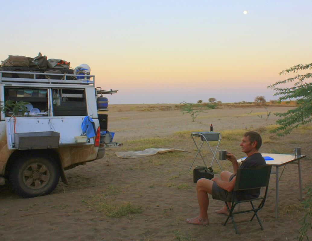 Our bushcamp in the dry riverbed.