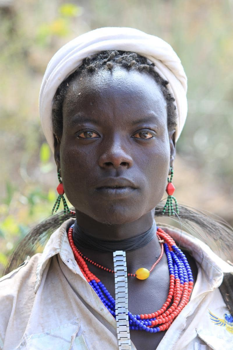 A cattle herder from the Hamer tribe.
