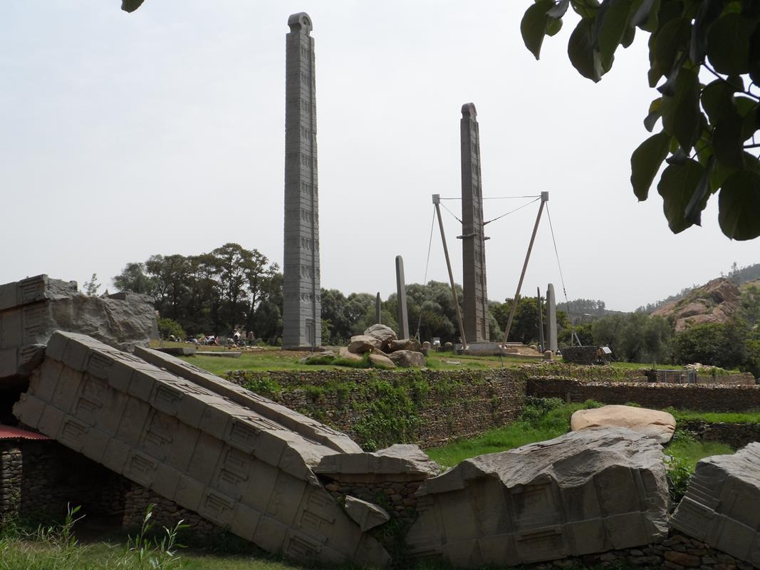 Some of the Axum stelae.