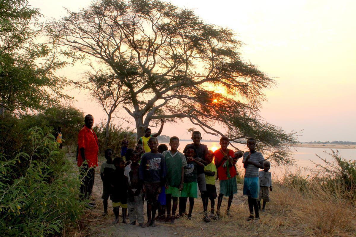 The children of Ngulwana village were very curious about us.