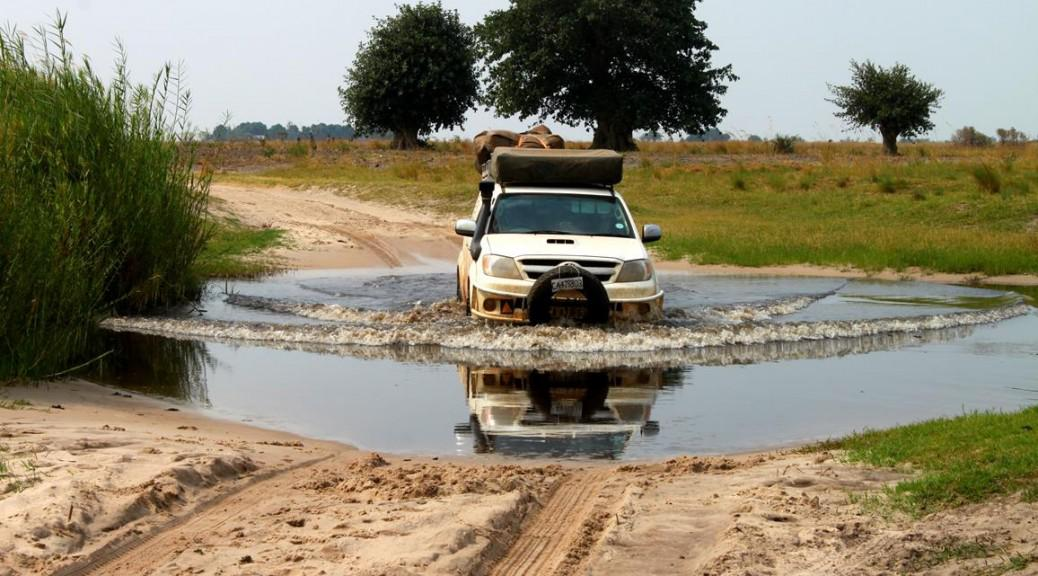 a water crossing in Zambia