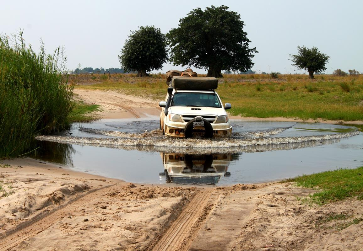 A water crossing.