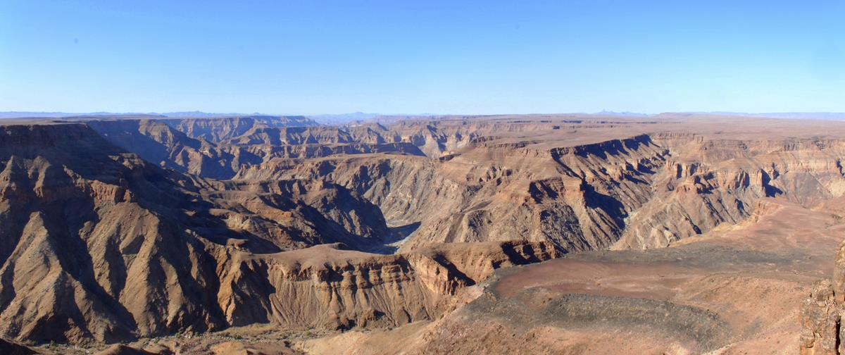 The Fish River Canyon in the early morning light.