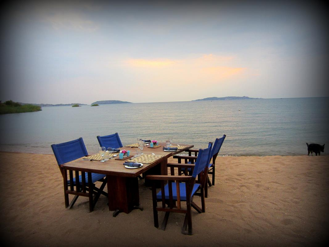 Lake Shore Lodge is an upmarket lodge on the edge of Lake Tanganyika.