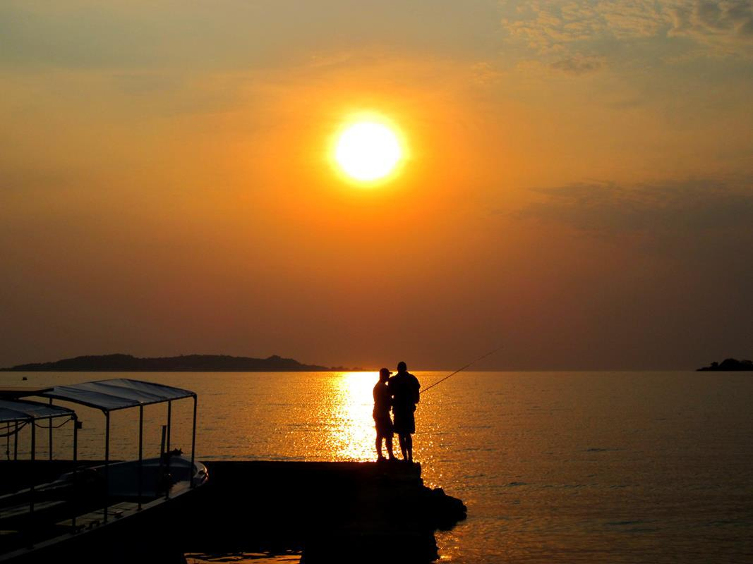 Sunset over Lake Tanganyika…