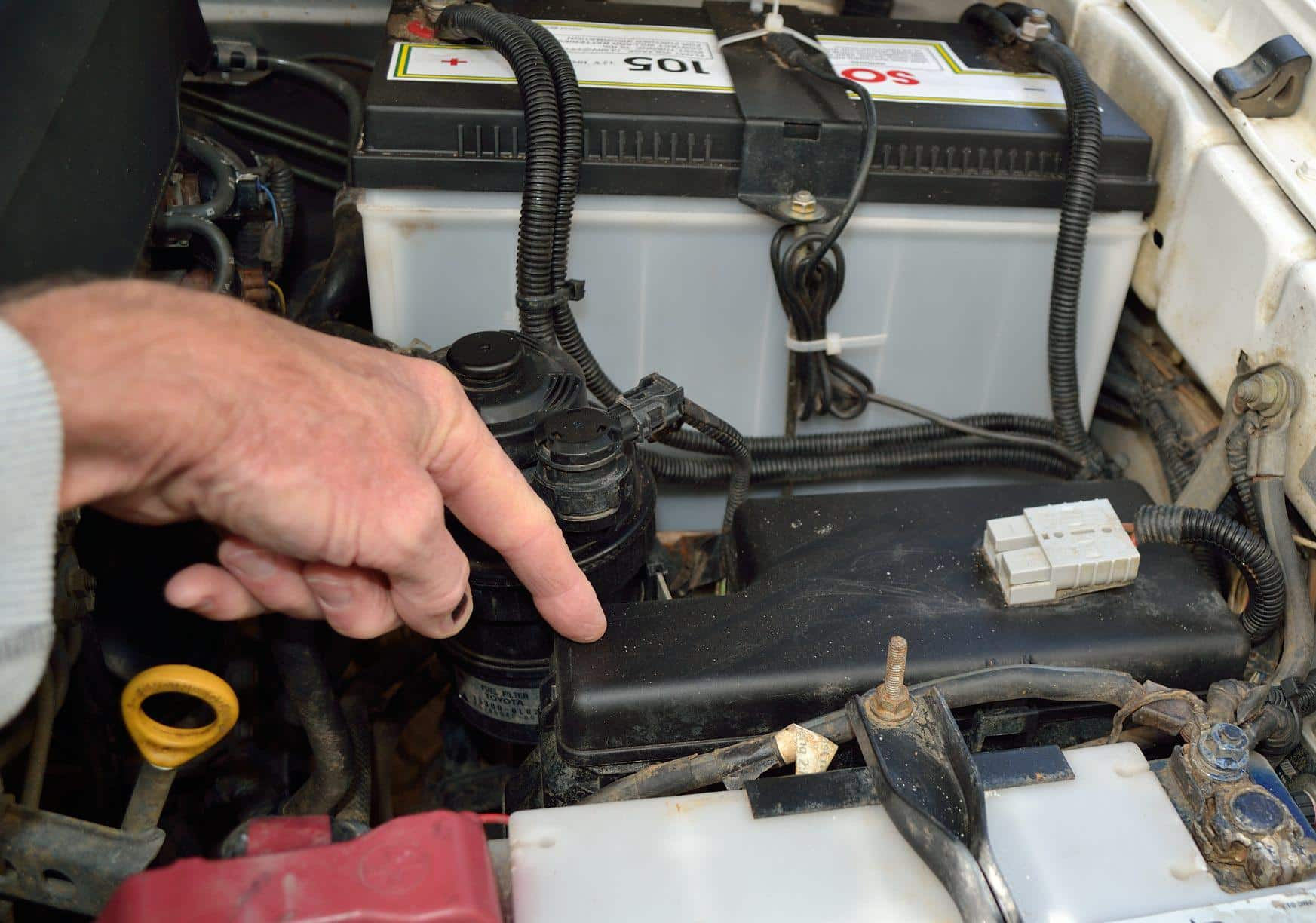 Find your fuse box and check that you have the right spare fuses. (Pic: Pete Barber.)