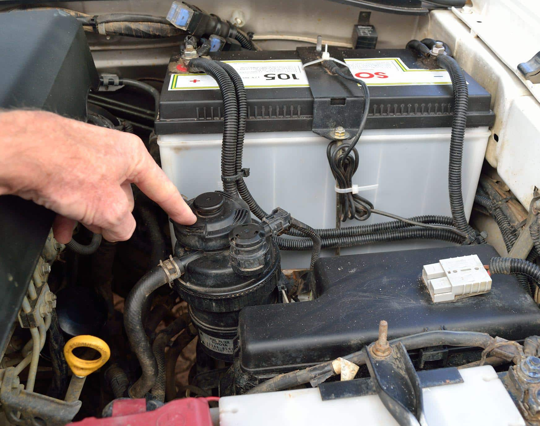 Identify your fuel filter. (Pic: Pete Barber)