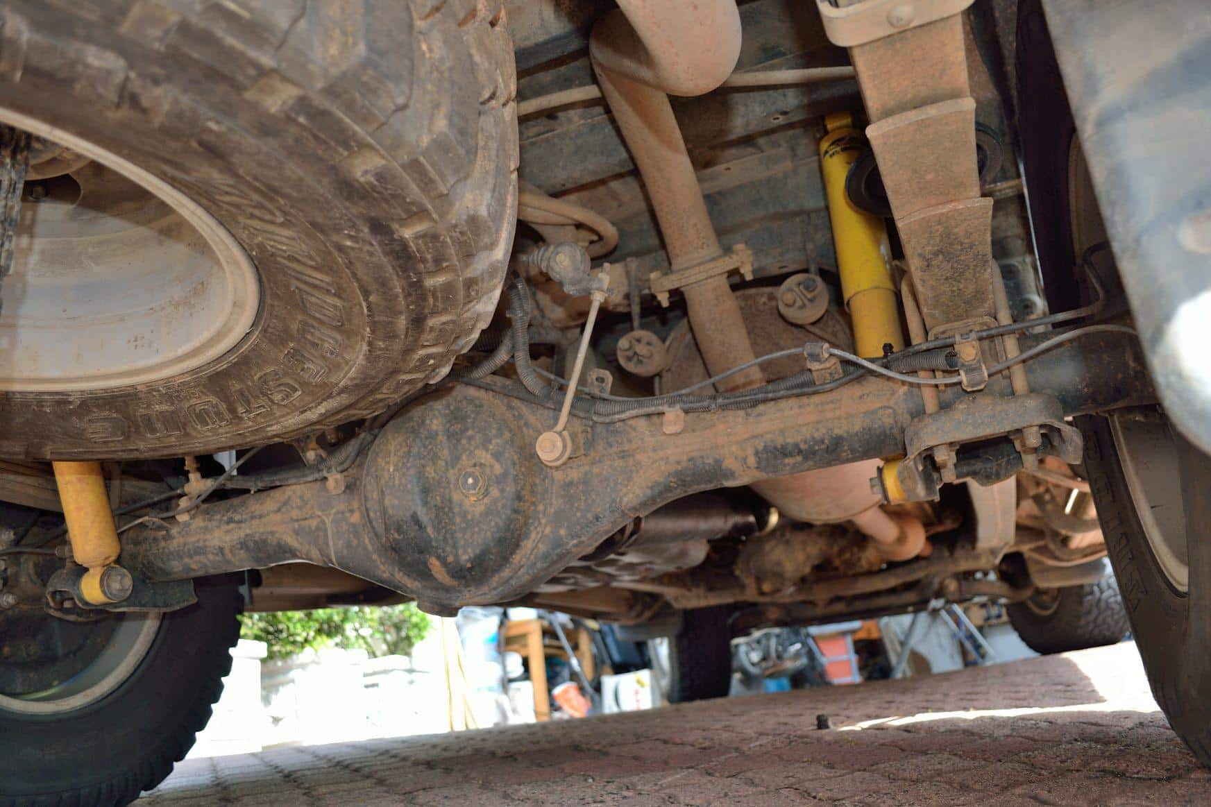 The one piece Toyota Hilux axle.
