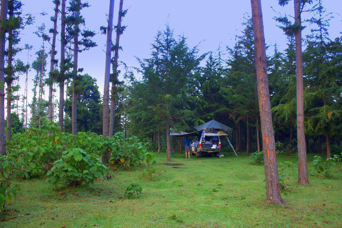 Bush camping gives you the freedom to travel as far as you want per day.