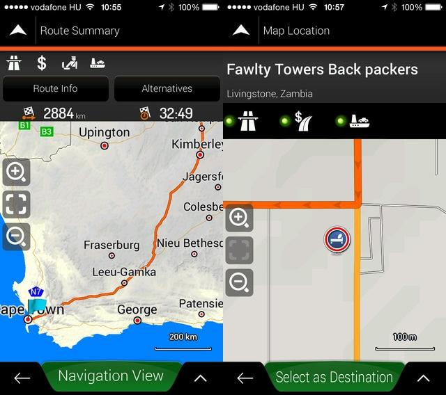 The T4A Overland Navigator App uses the same base map information as the T4A GPS maps.