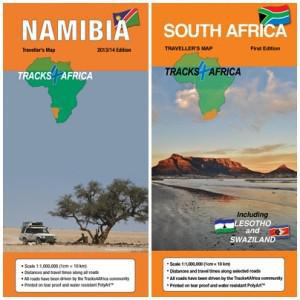 SA and Namibia maps