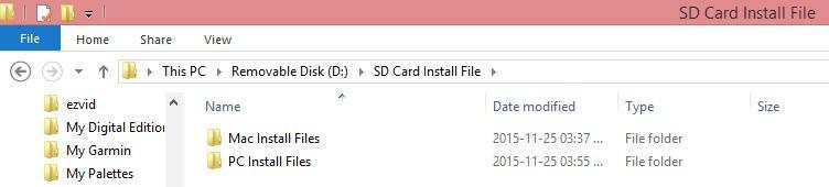 SD Card Install