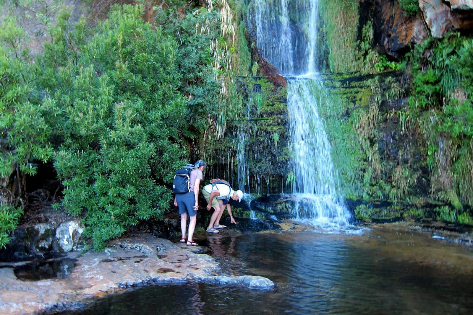 Frank and his wife, Marijke, enjoying the Algeria Waterfall.
